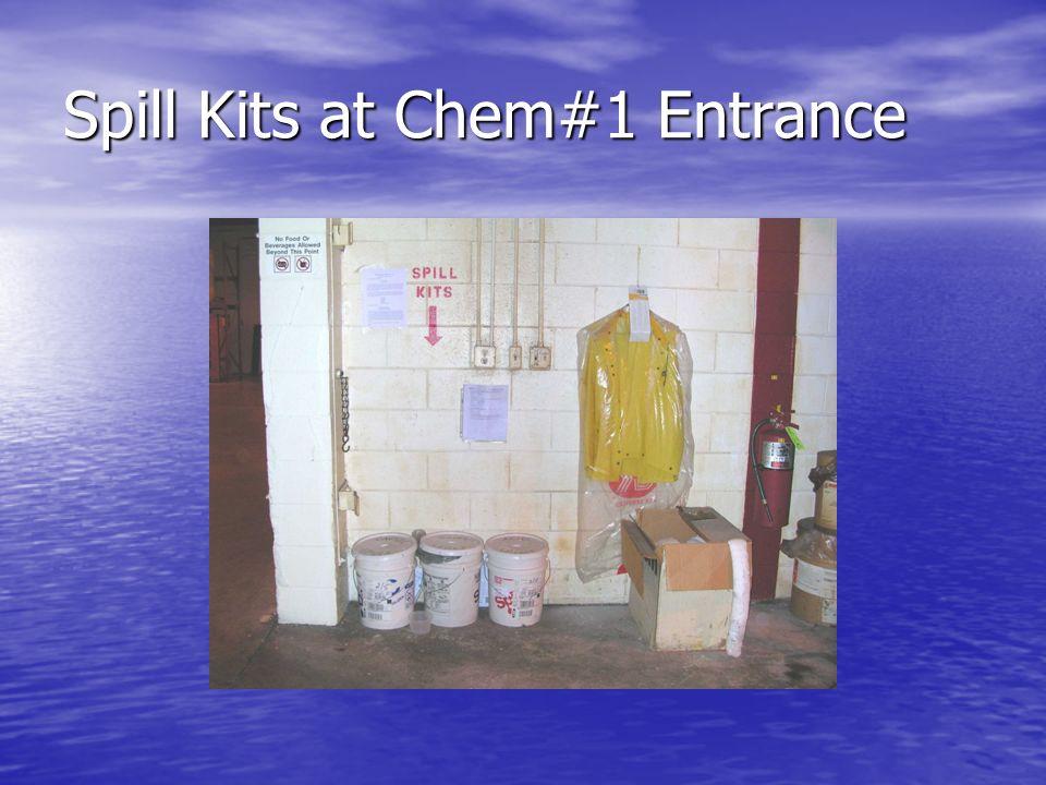 Spill Kits at Chem#1 Entrance