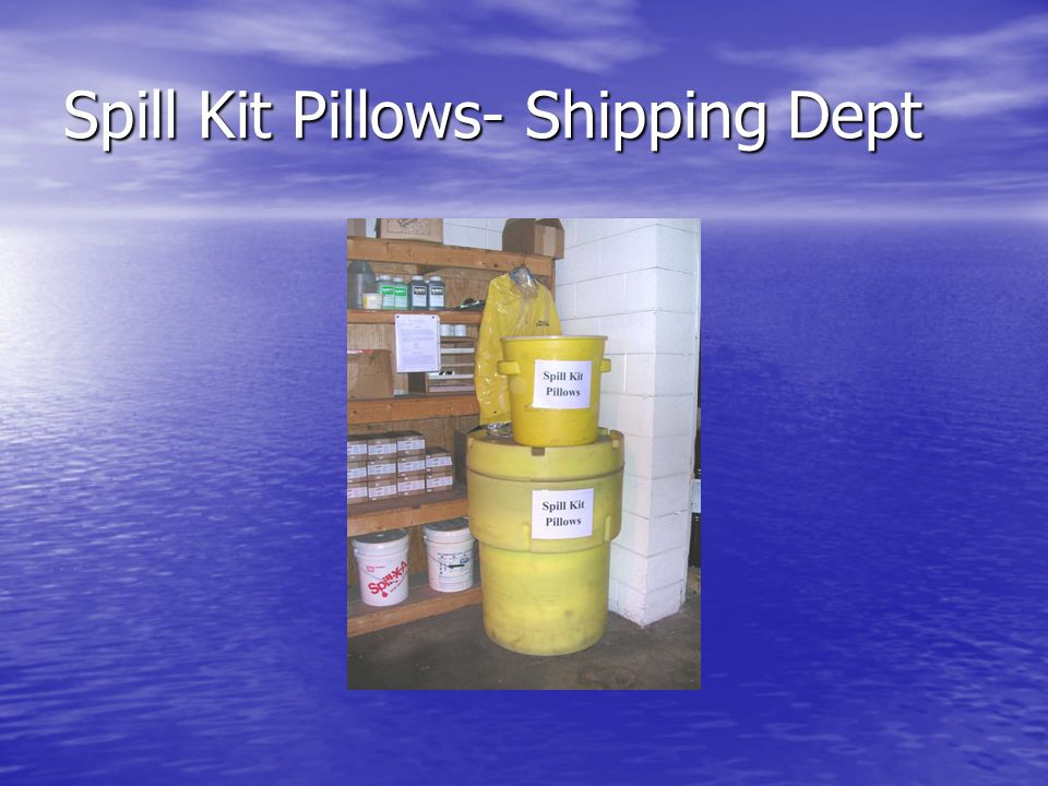 Spill Kit Pillows- Shipping Dept