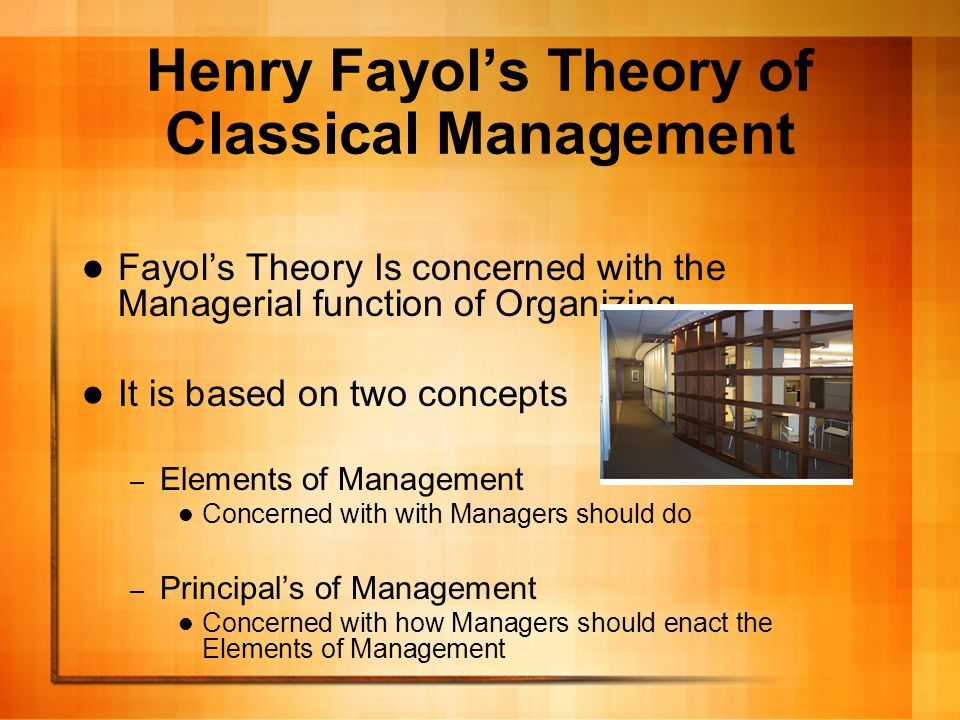 Henry Fayol's Theory of Classical Management