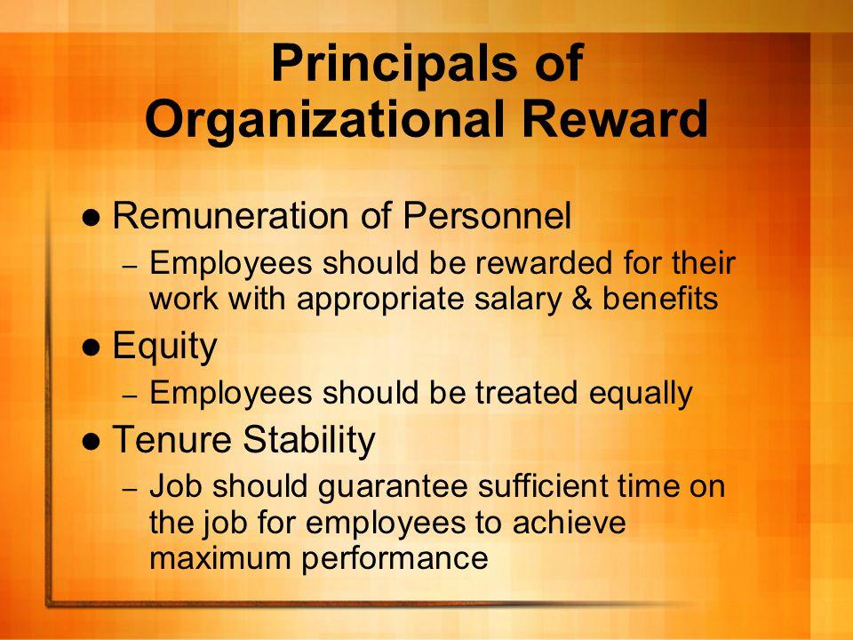 Principals of Organizational Reward