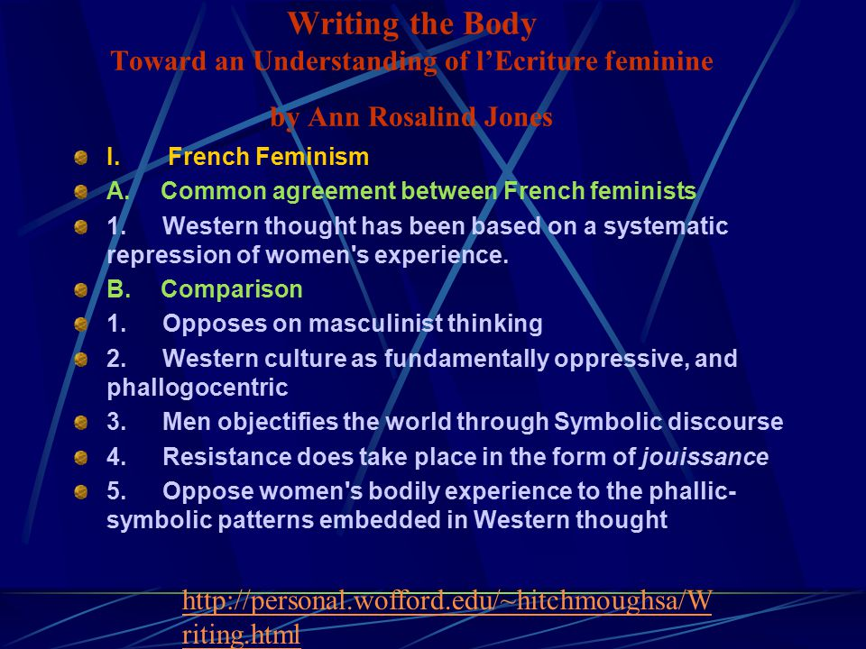 I French Feminism A Common Agreement Between French Feminists