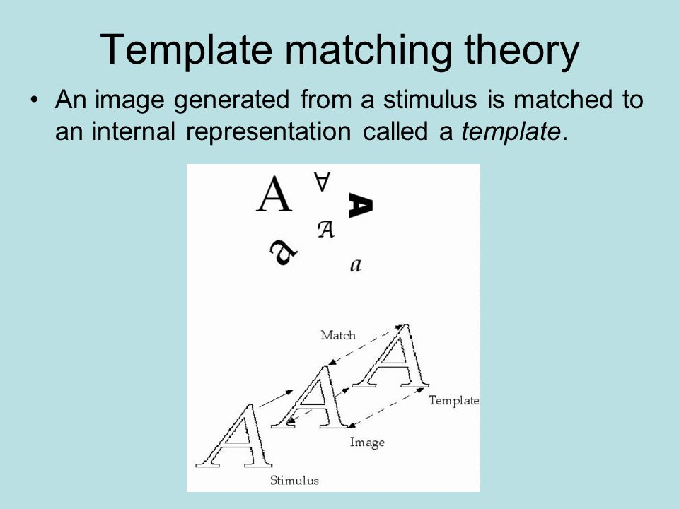 The cognitive approach i history vision and attention for Template matching in image processing