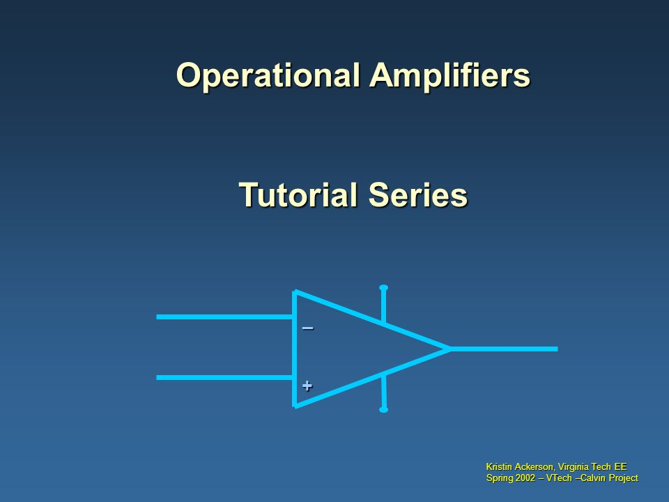 PPT Operational Amplifier PowerPoint presentation