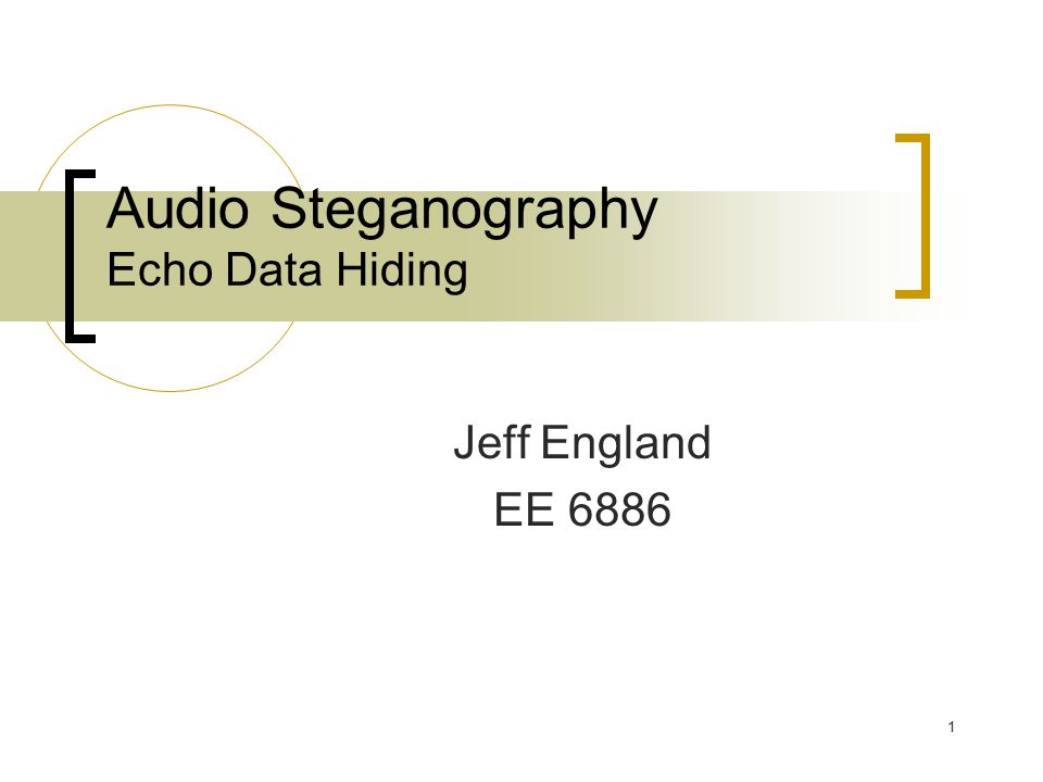 audio steganography and watermarking Openpuff steganography & watermarking openpuff is freeware and provides the user with the ability to encrypt and hide data in audio  michael chesbro 2 (wav.