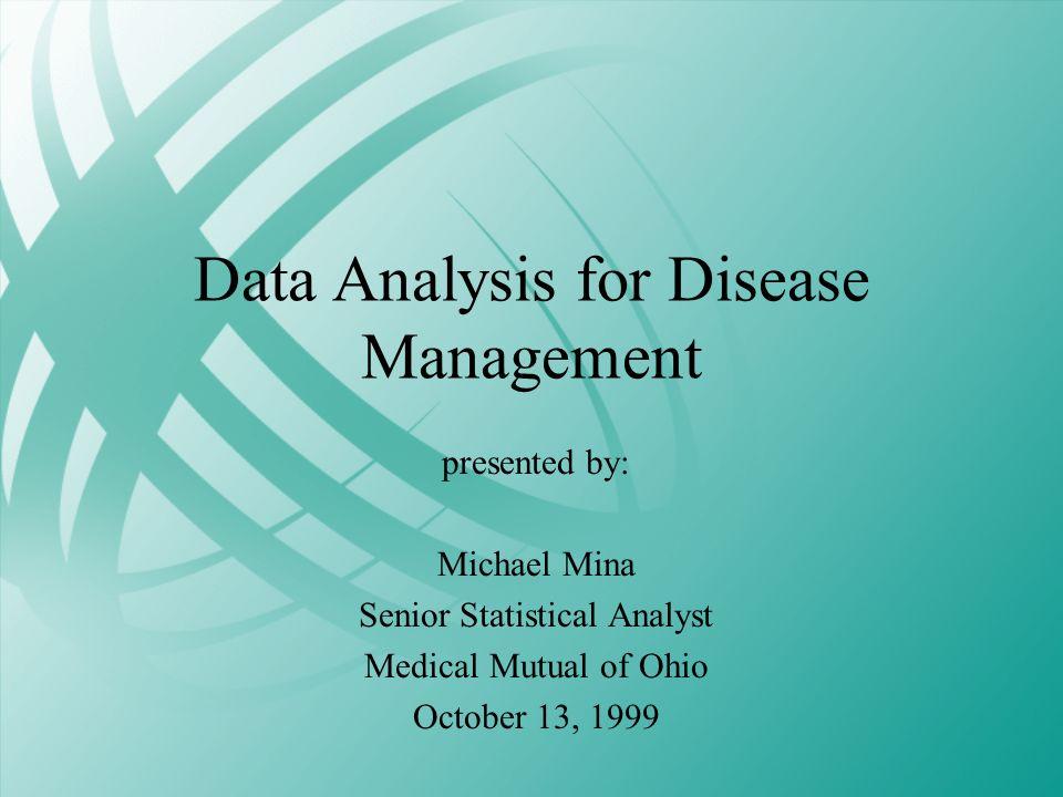 Data Analysis for Disease Management