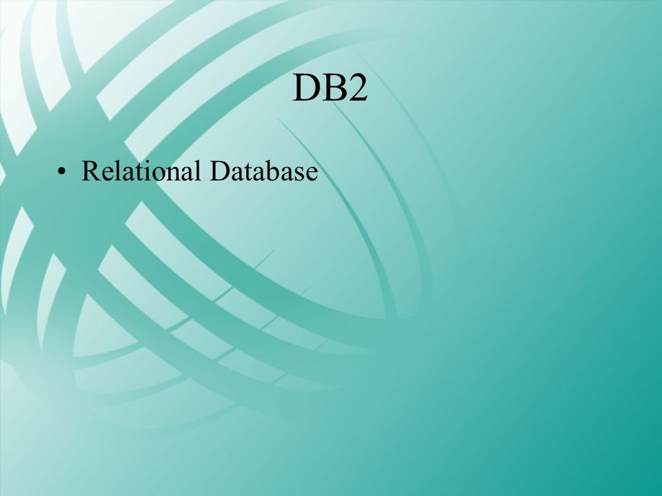 DB2 Relational Database