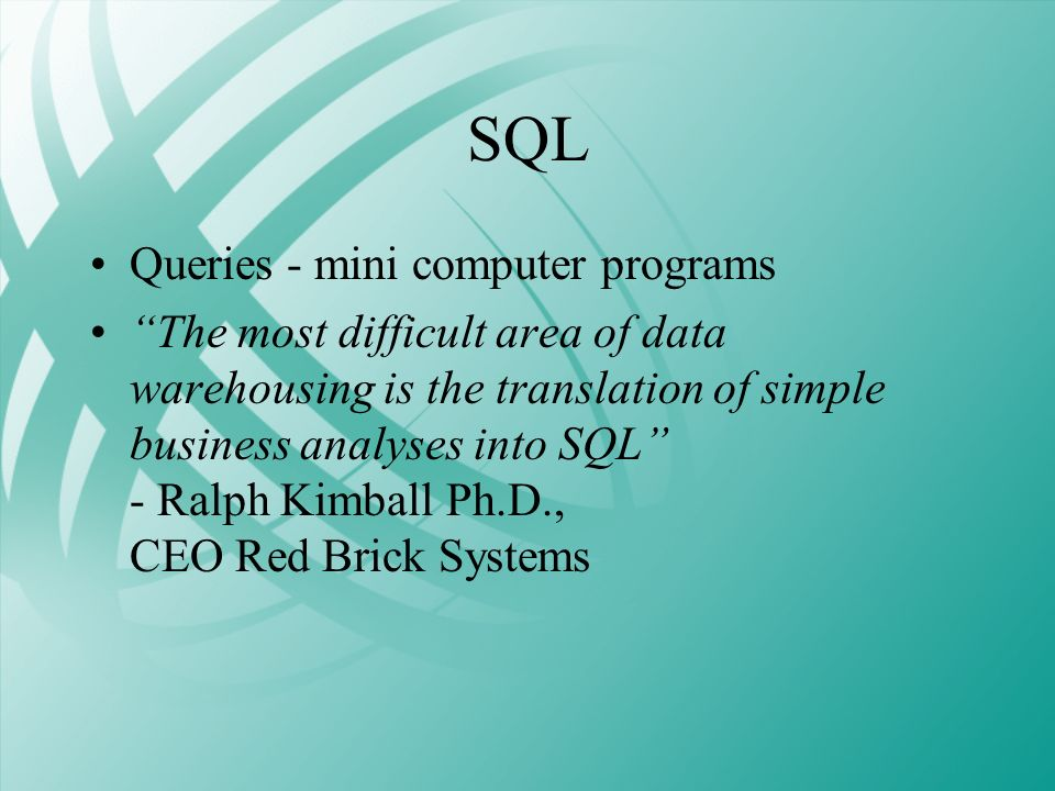 SQL Queries - mini computer programs