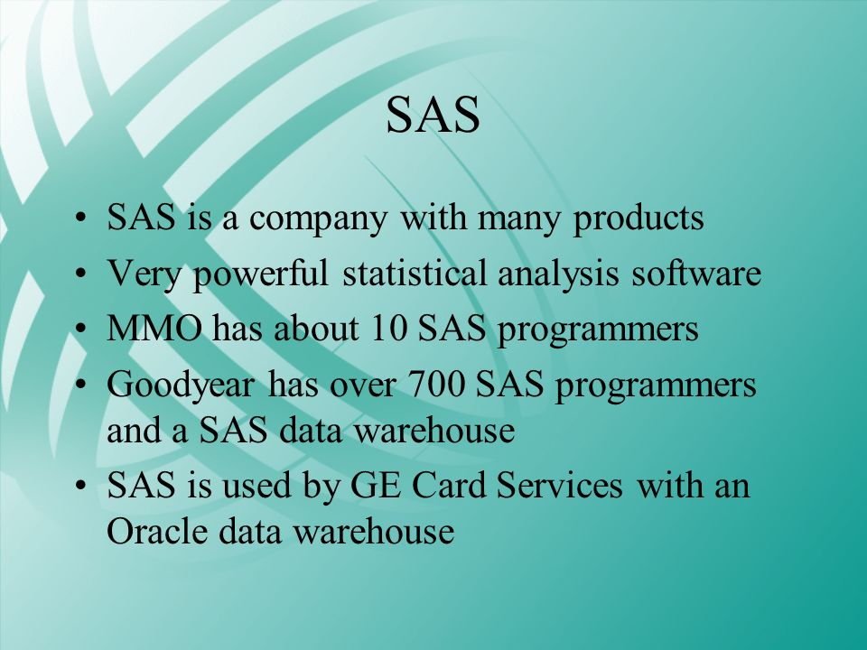 SAS SAS is a company with many products