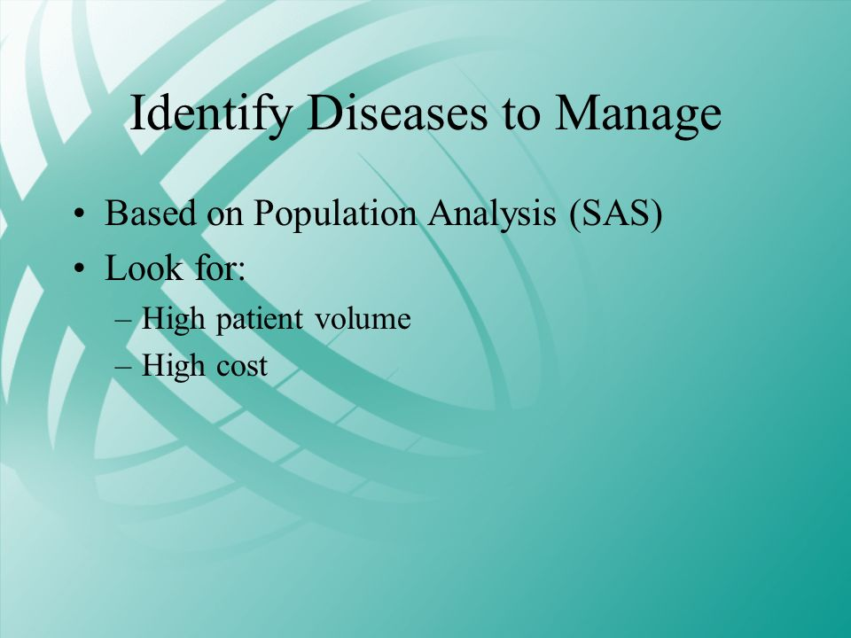 Identify Diseases to Manage