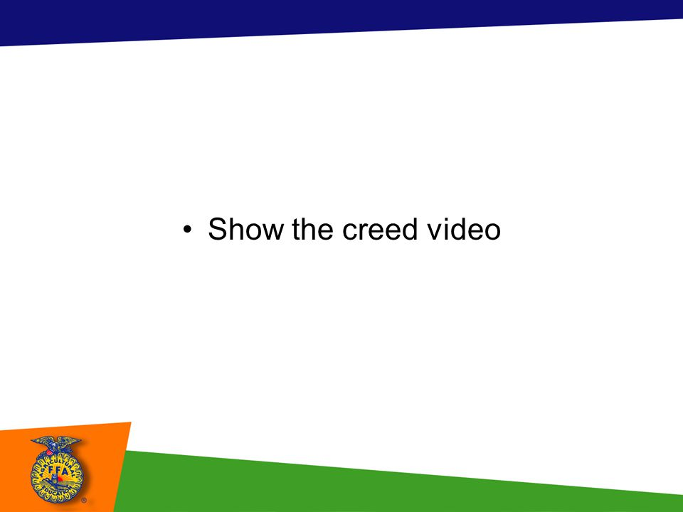 Show the creed video