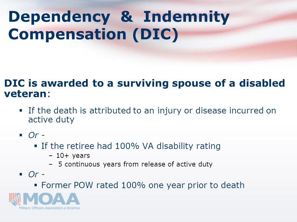 Dependency & Indemnity Compensation (DIC)