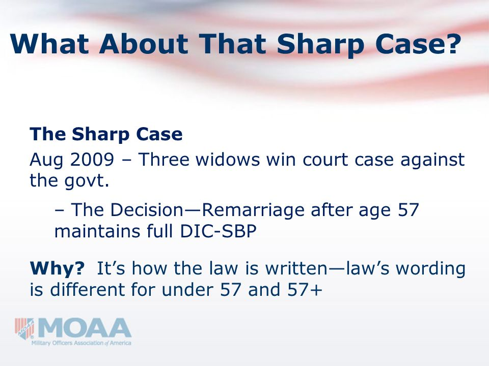 What About That Sharp Case
