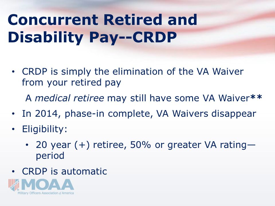 Concurrent Retired and Disability Pay--CRDP