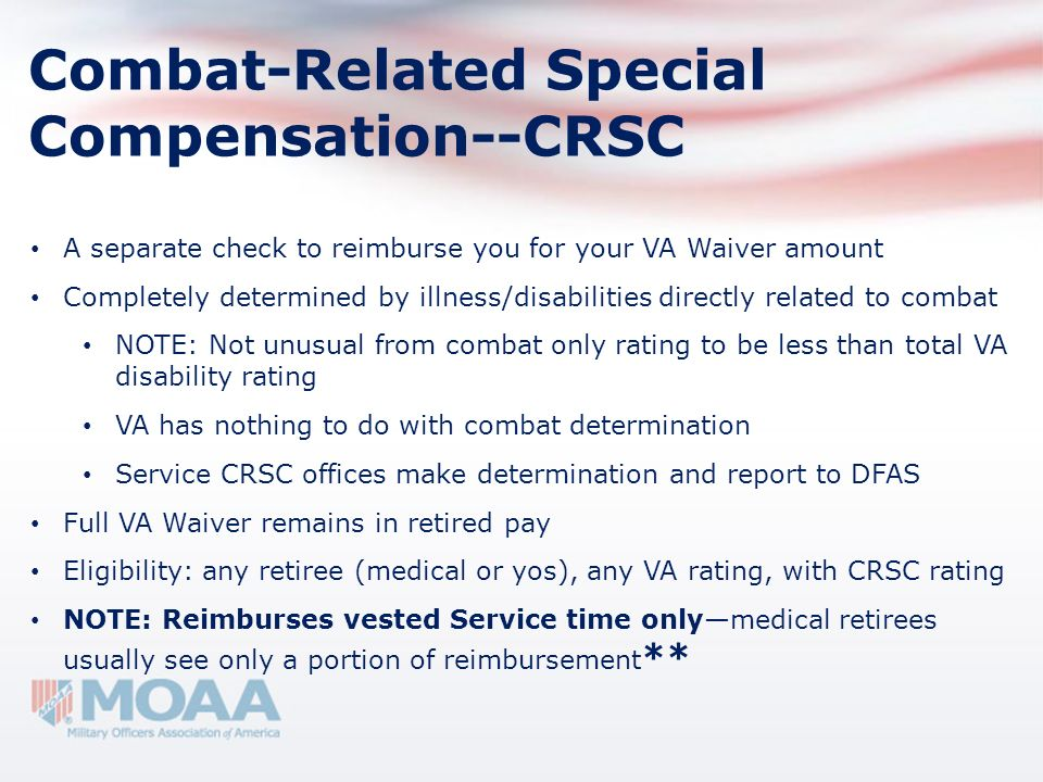 Combat-Related Special Compensation--CRSC