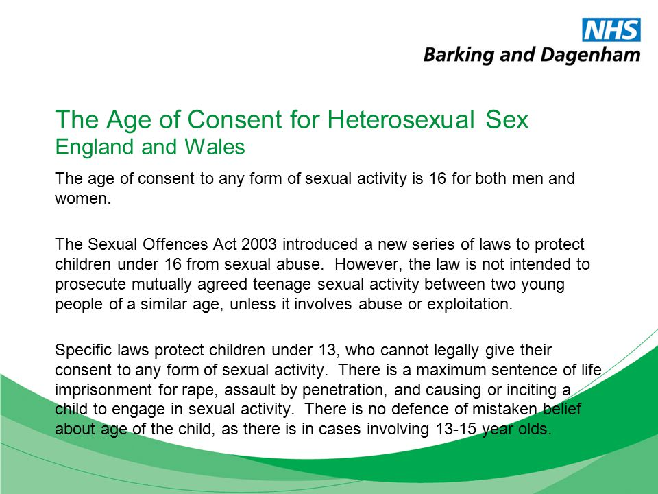 The US Federal Age of Sexual Consent