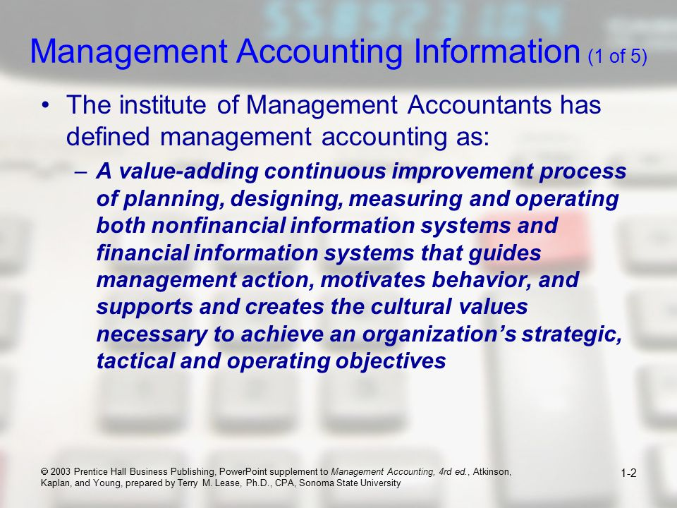 how managerial accounting adds value to organization essay