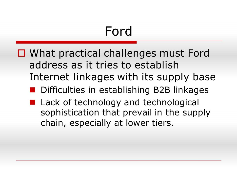 ford motor company supply chain strategy pdf