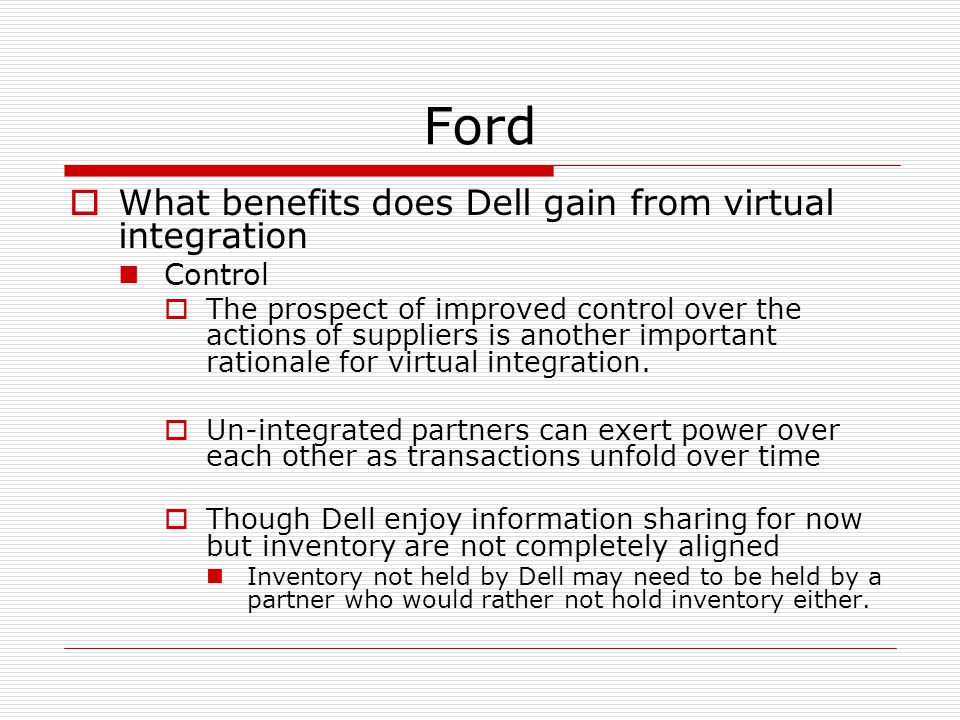 ford motor company supply chain strategy Extracts from this document introduction ford motor company: supply chain strategy case mba 806 fall 2003 kimberly wallace introduction ford motor company, incorporated in 190 by mr henry ford, is one of the.