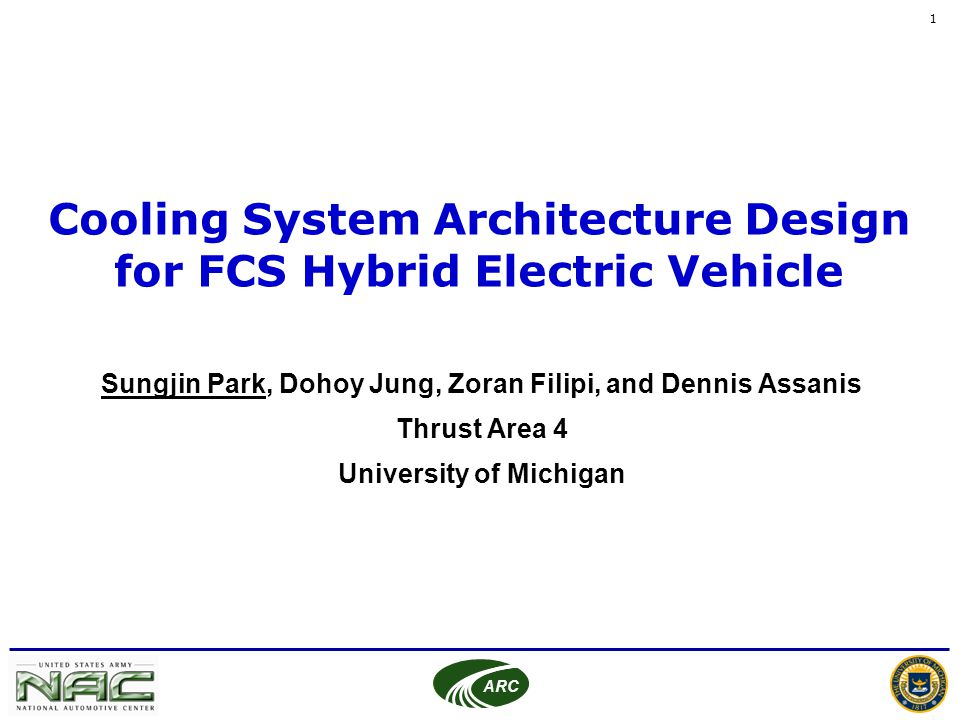 Cooling System Architecture Design for FCS Hybrid Electric Vehicle ...