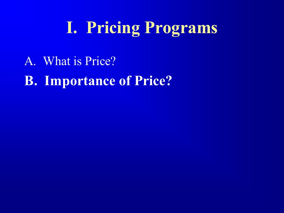 The Growing Importance of Pricing