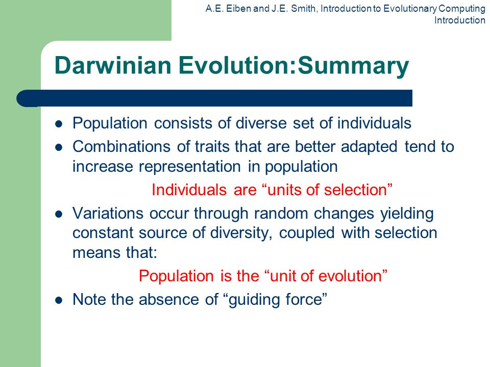 Characteristics of subsequent evolution