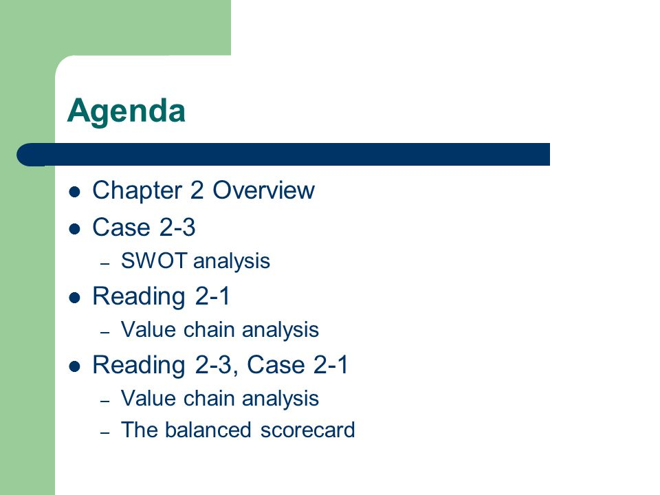 chapter 5 value chain and swot Value chain analysis establishes an action plan to understand and implement activities that create values to a firm's clients, resulting in firm profits insights the industry handbook: pharma.