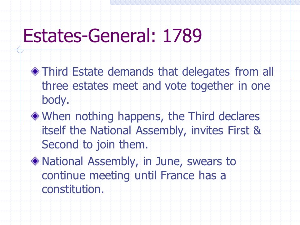 an analysis of the declaration of the national assembly in the third estate The national assembly, or in french assemblée nationale, was proclaimed by the third estate on june 17, 1789 here follows the english translation of the declaration of the constitution of the national assembly: the assembly, deliberating after having verified its powers, recognizes that this.