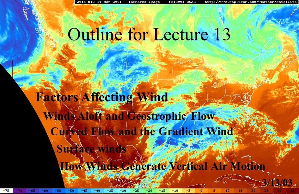 Outline for Lecture 13 Factors Affecting Wind