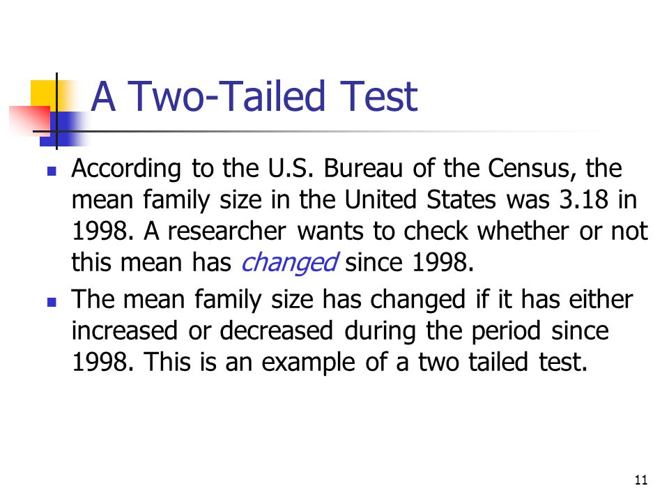 A Two-Tailed Test