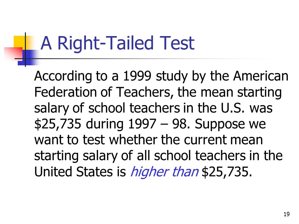 A Right-Tailed Test