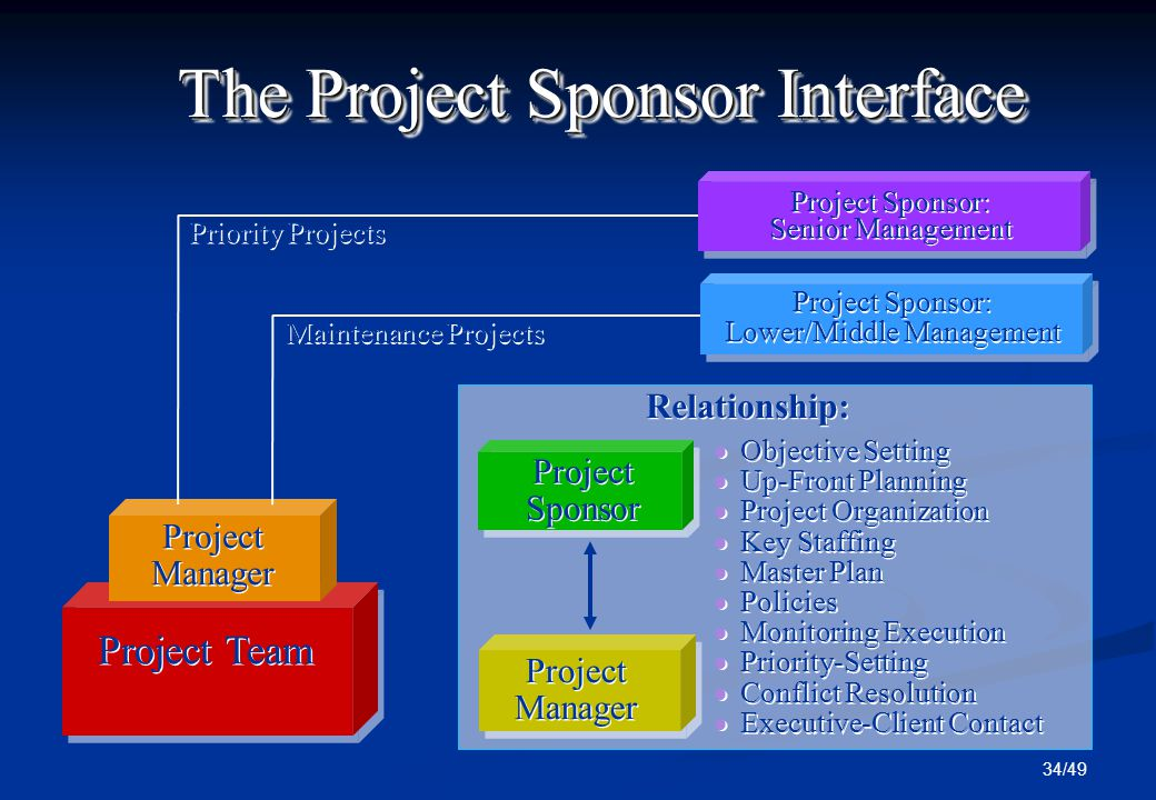 project sponsor Project sponsor means any person, firm, corporation, company, partnership, association, society, trust, joint venture, joint stock company or other business entity that assumes substantial responsibility for the development, financing, and structuring of a project eligible for a loan guarantee and, if not the applicant, owns or controls, by itself and/or through individuals in common or.