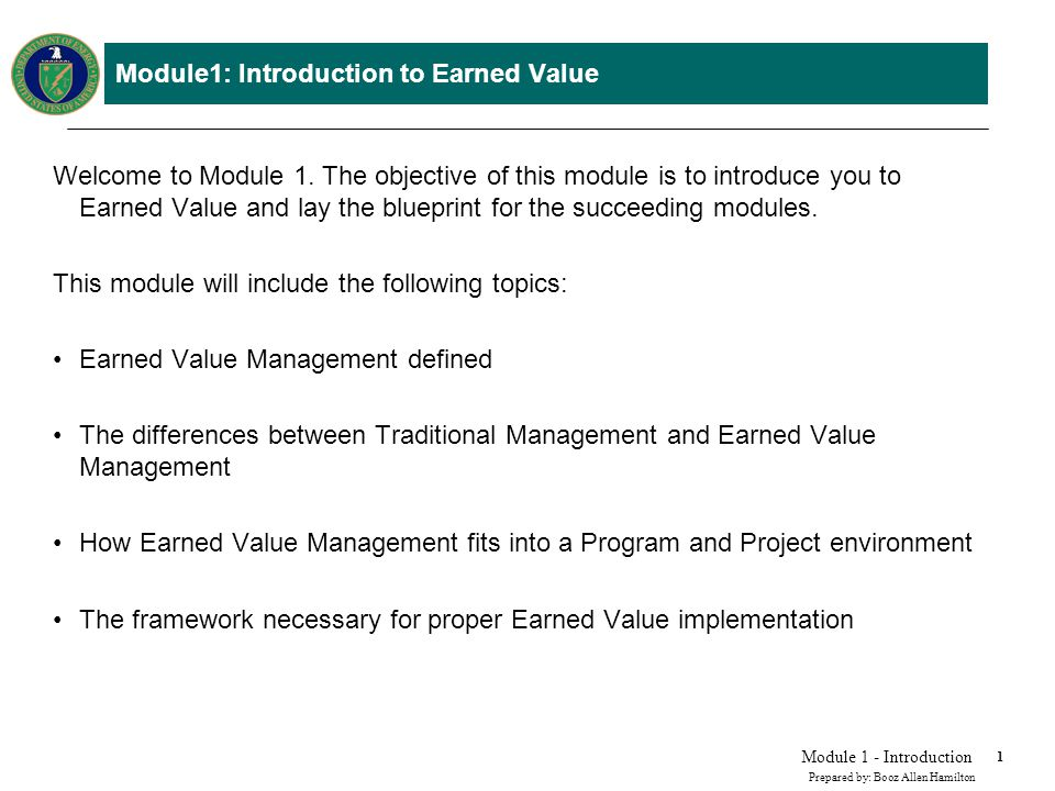 What is Earned Value Management