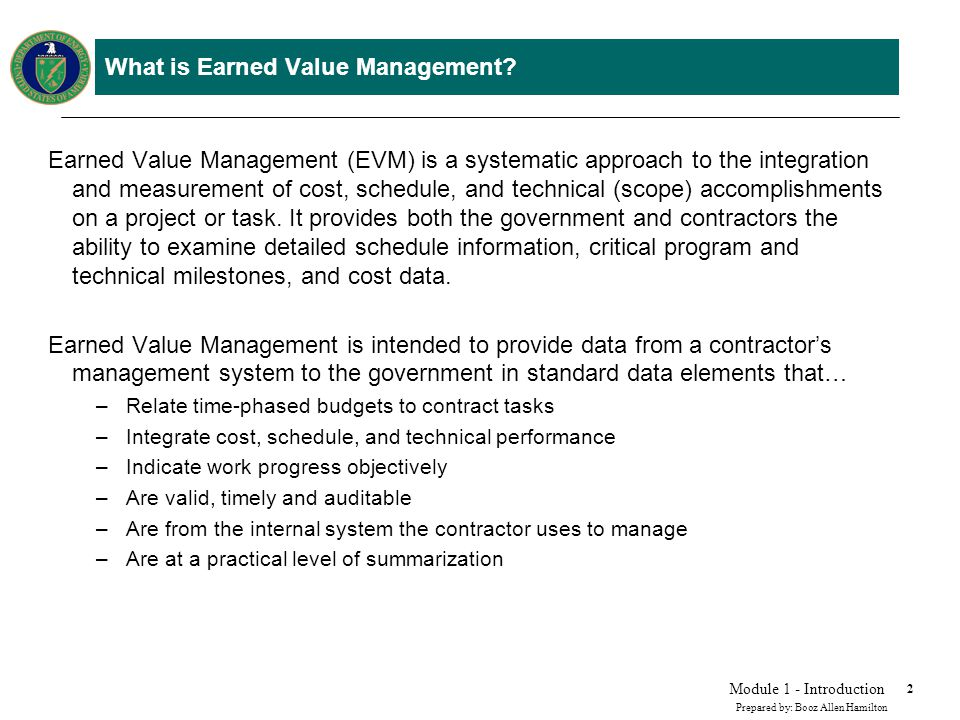 Why use Earned Value Management