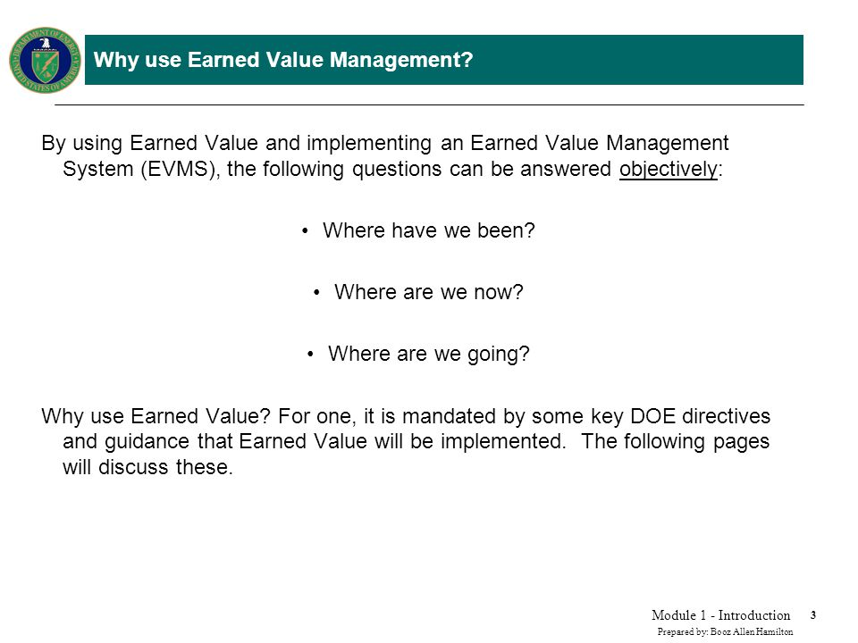 Module1: Introduction to Earned Value - ppt video online