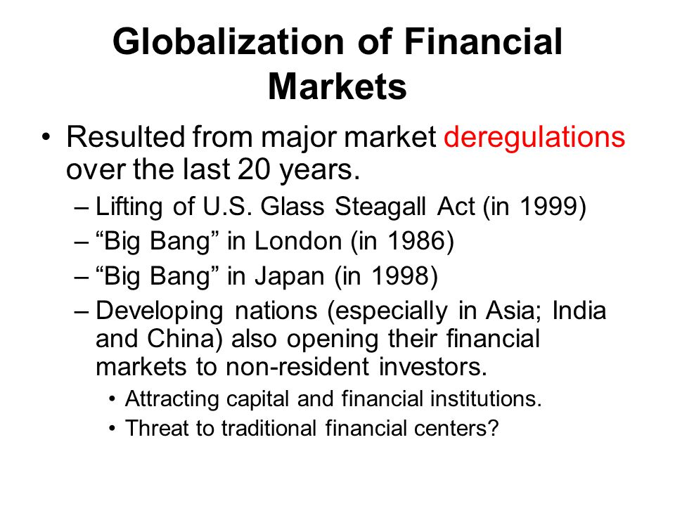 is financial globalization good for developing In theory, globalization is supposed to be for the good of all in reality, this concept was designed by the developed countries on behalf of their companies and financial institutions the purpose: to overcome the regulations set up by developing countries to promote their domestic economy and local firms which had been marginalized during .