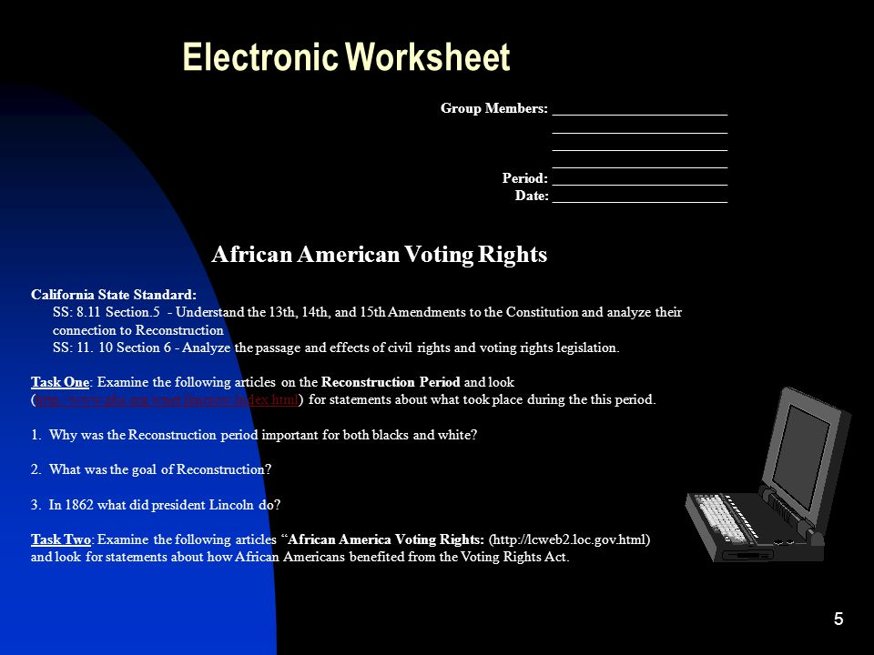 african american and their rights