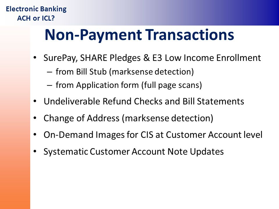 Electronic Banking ACH or ICL? - ppt video online download