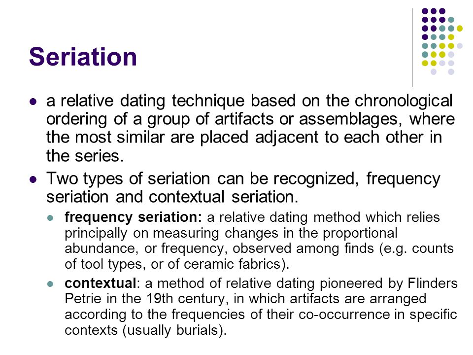 seriation relative dating science