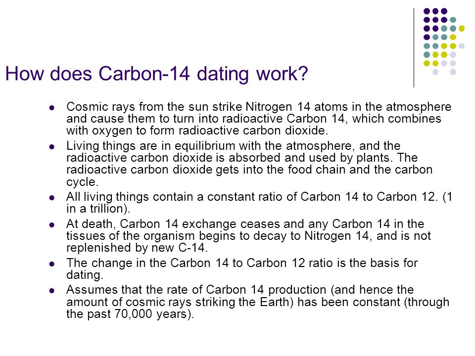 production rate carbon 14 dating