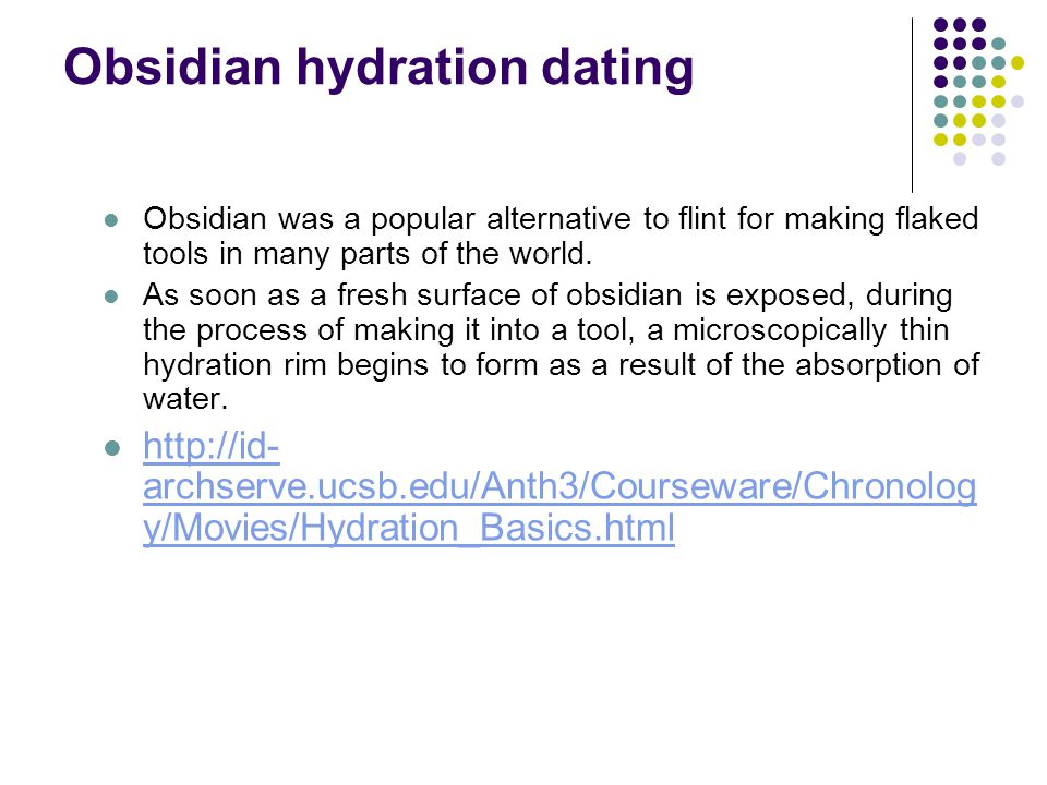 Obsidian hydration dating cost