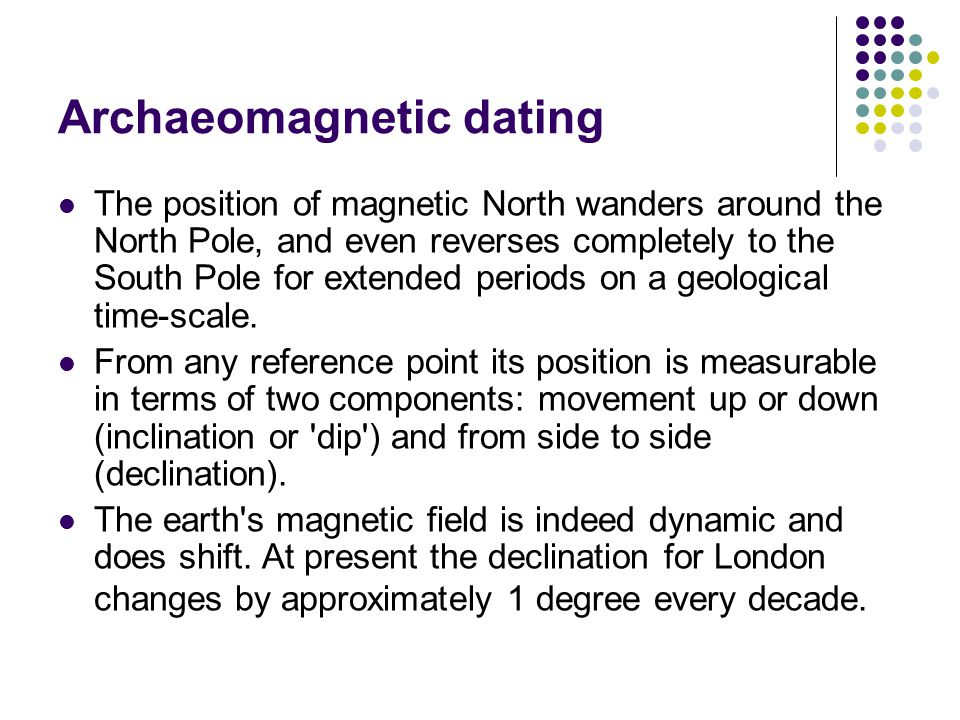 Archaeomagnetic dating