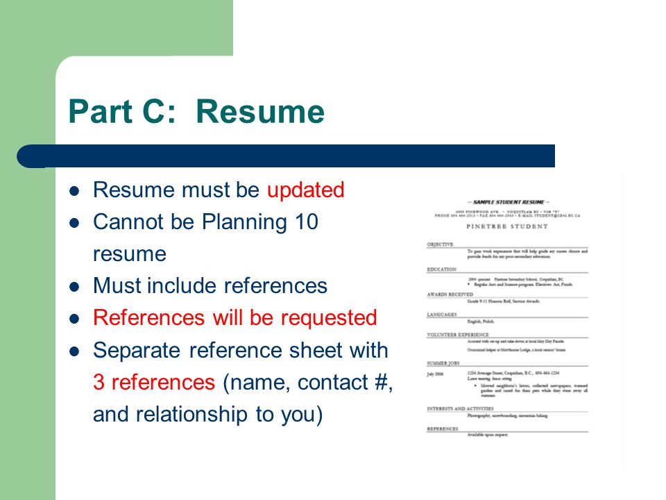 do you include references on a resume