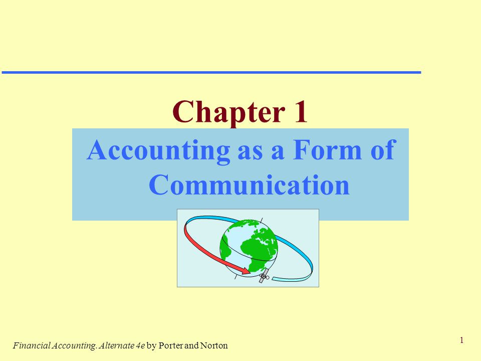 Accounting As A Form Of Communication - Ppt Download