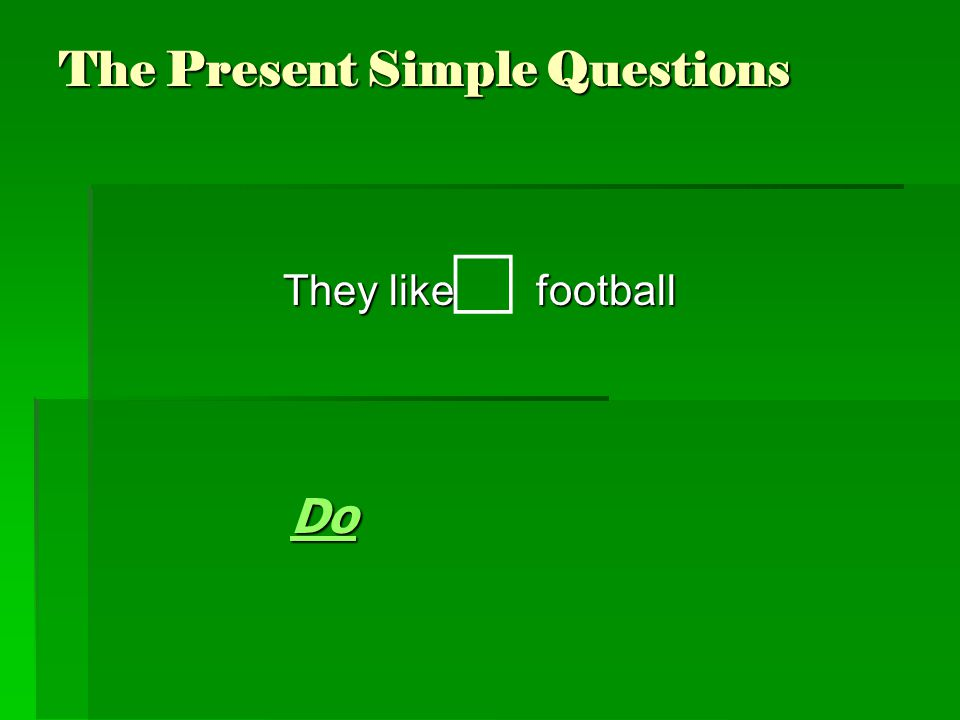 The Present Simple Questions