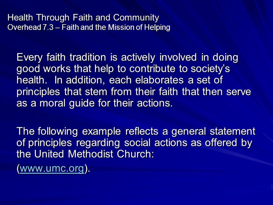 Health Through Faith and Community Overhead 7