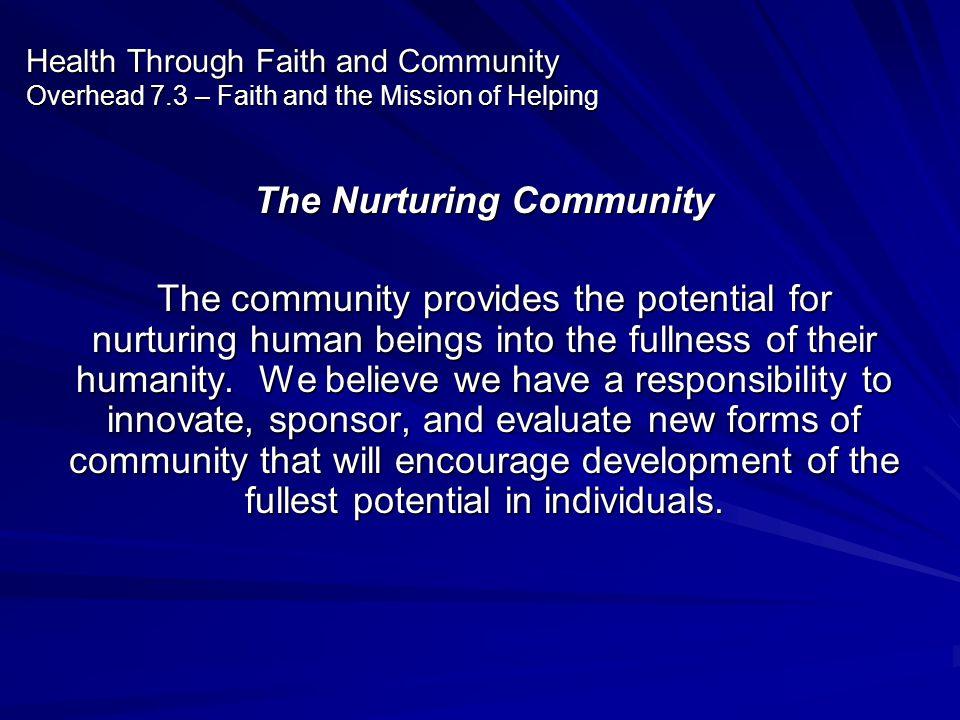 The Nurturing Community