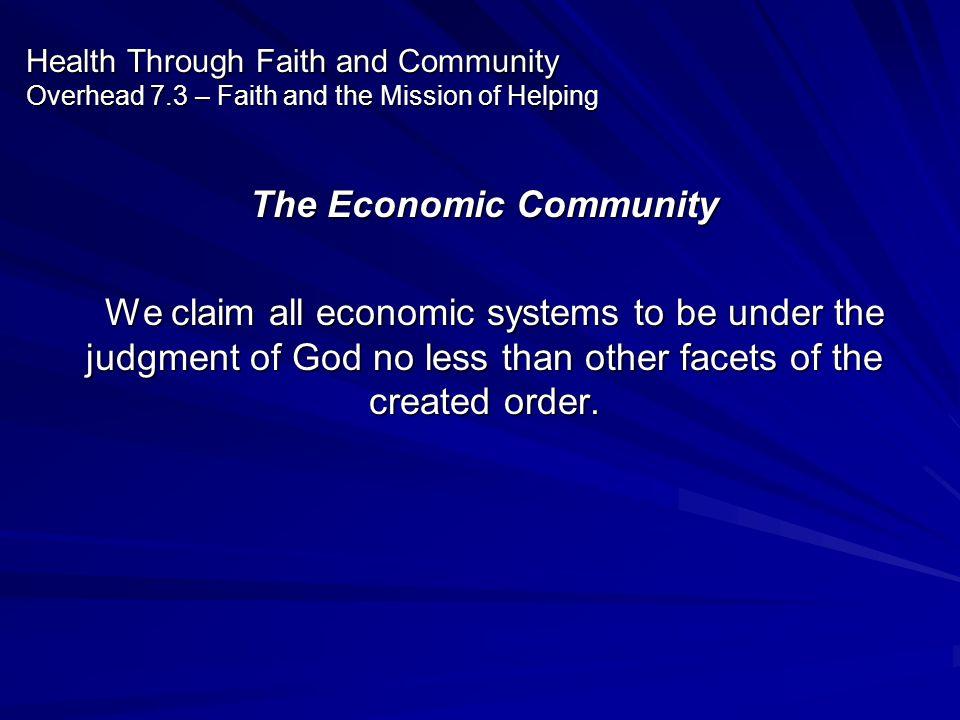 The Economic Community