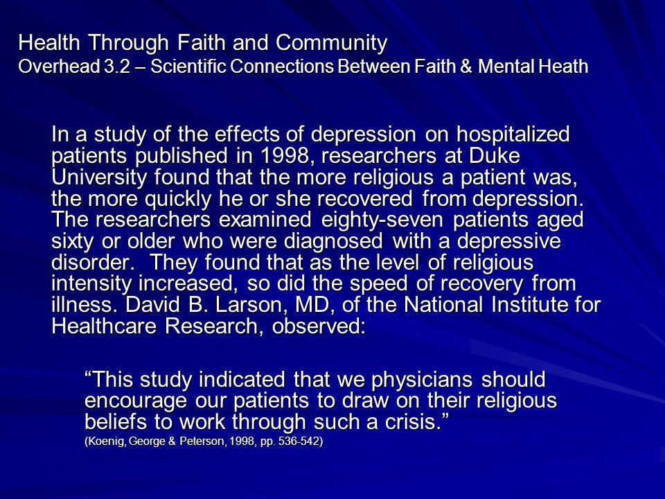 Health Through Faith and Community Overhead 3