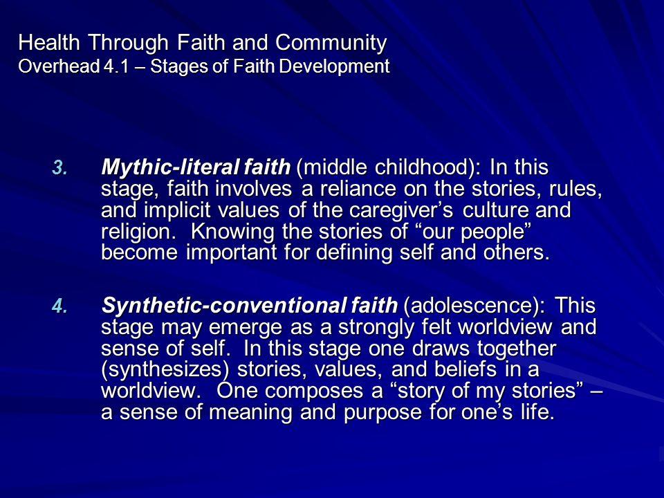 Health Through Faith and Community Overhead 4
