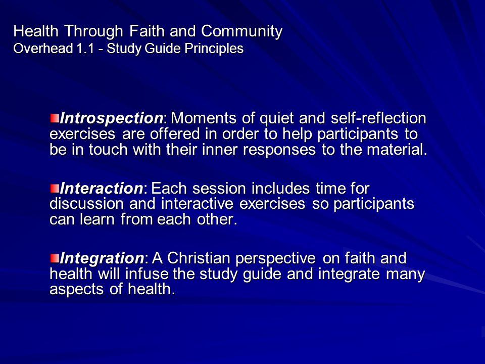 Health Through Faith and Community Overhead 1